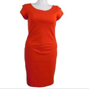 Banana Republic Red Short Sleeve Shift Dress